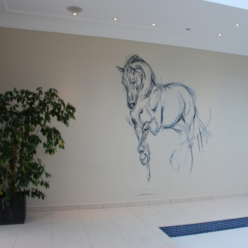 Commissioned mural